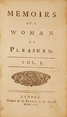 http://en.wikipedia.org/wiki/Fanny_Hill   http://www.youtube.com/watch?v=f8XPW6zWwG8