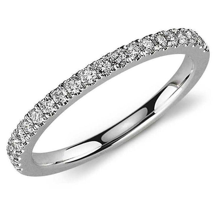 Half Eternity Pave Setting Diamond Ring in Platinum SJ PTO 255