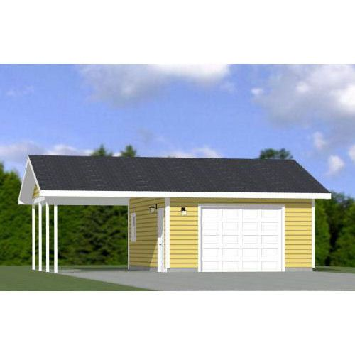 This is a PDF Plan available for Instant Download.  16x24 garage with carport.  Sq. Ft: 384 Building size: 28-0 wide, 24-0 deep Main roof pitch: 4/12 Ridge height: 12 Wall height: 8 Foundation: Slab Lap siding  2x4 walls standard. Basic dimensions for 2x6 walls also provided.   PLANS INCLUDE: Elevations Exterior / Interior Dimension Plan Floor / Ceiling Framing Plan Roof Framing Plan Cross Section Door & Window Schedule Lighting Plan Ideas for modifications An estimated mat...