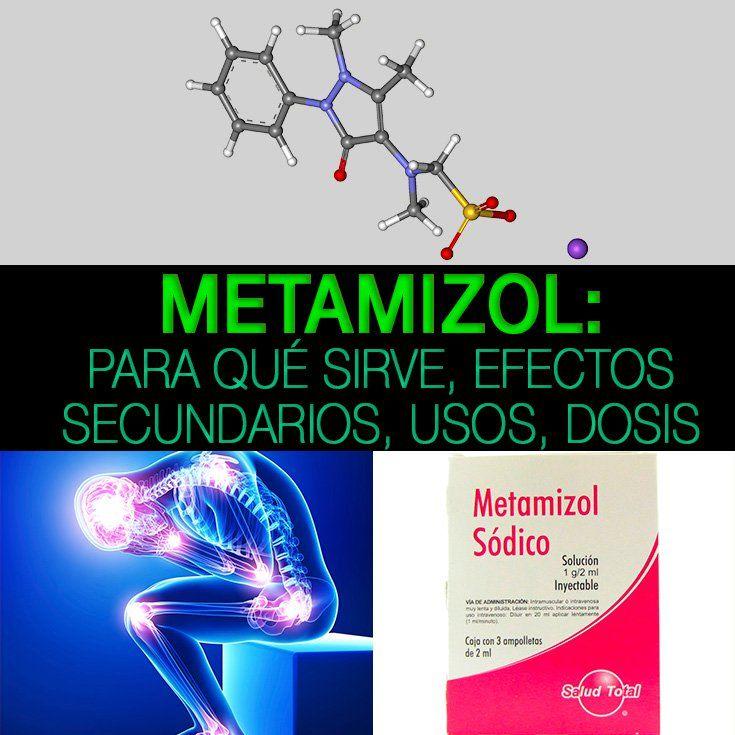 Dosis metamizol sodico inyectable