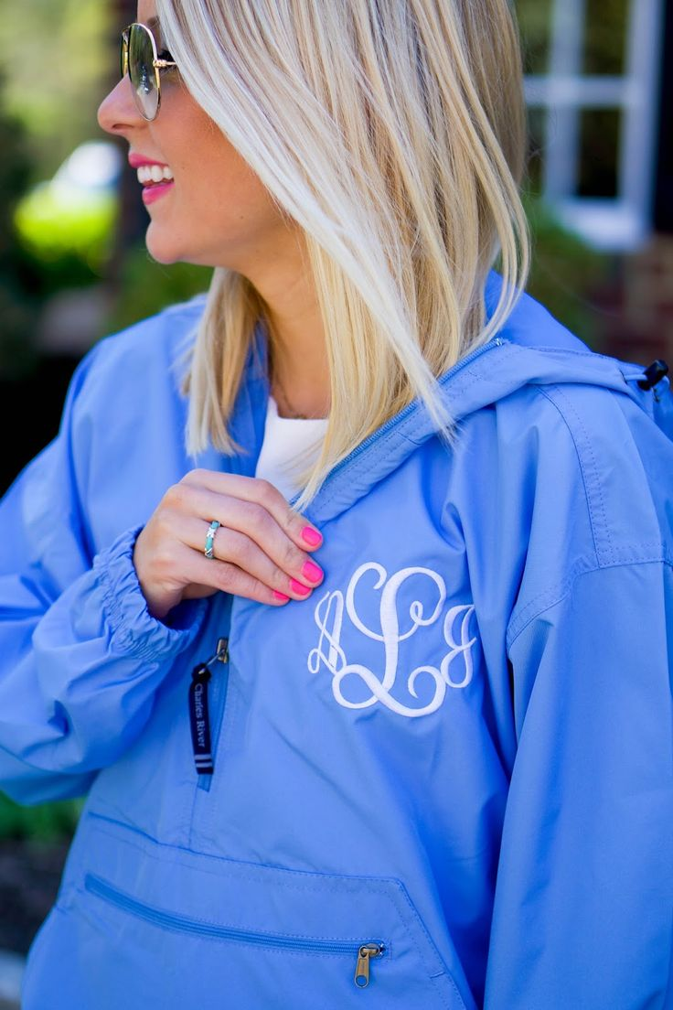 Monogram Pick-N-Go Pullover // www.amybelievesinpink.com