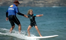 Learning to surf in Sydney Australia