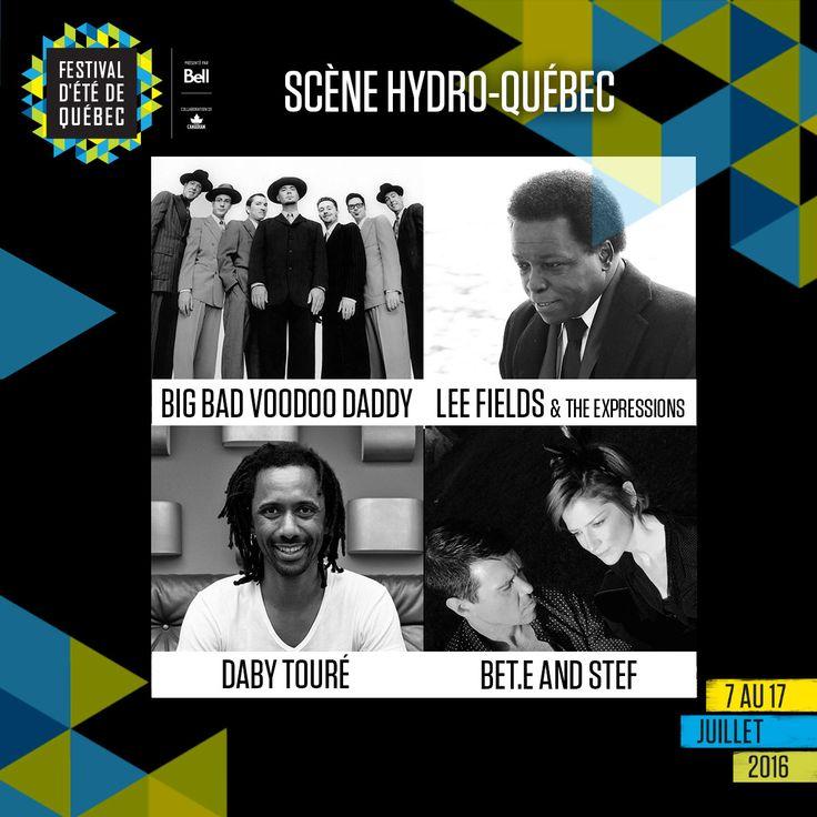 Encore plus de musique du monde, de soul et de jazz sur la scène Hydro-Québec à place D'Youville : Big Bad Voodoo Daddy, Lee Fields and The Expressions, Daby Touré et Bet.e and Stef.