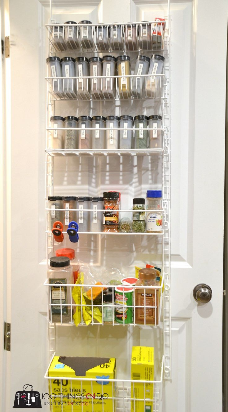 The 25 best door mounted spice rack ideas on pinterest for 18 x 80 pantry door