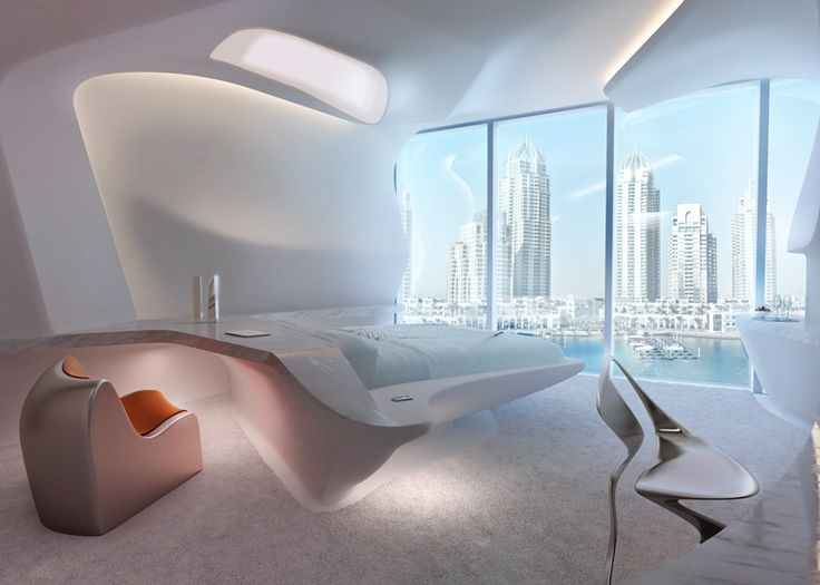 Zaha Hadid reveals interiors for ME Dubai Hotel.