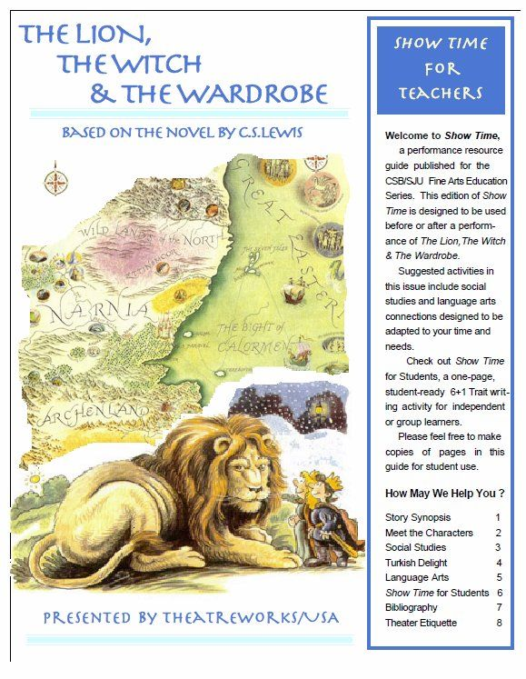 19 Best Narnia Unit Study Images On Pinterest Teaching Supplies