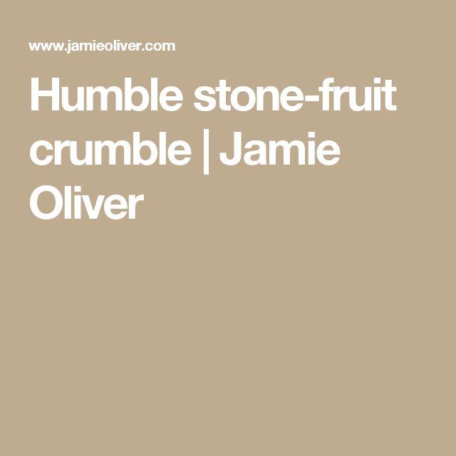 Humble stone-fruit crumble | Jamie Oliver