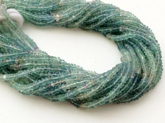 Fluorite Beads Aqua Green Fluorite Faceted by gemsforjewels