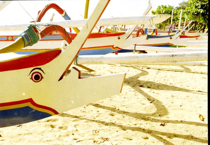 Fishing boats, Sanur beach, Bali