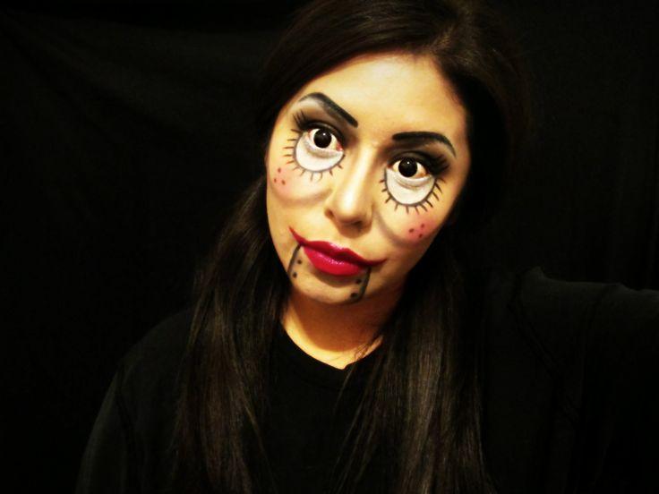 cute ventriloquist doll makeup for beginners 2014 tutorial halloween halloweenmakeup halloweenforbeginners - Halloween Makeup For Beginners