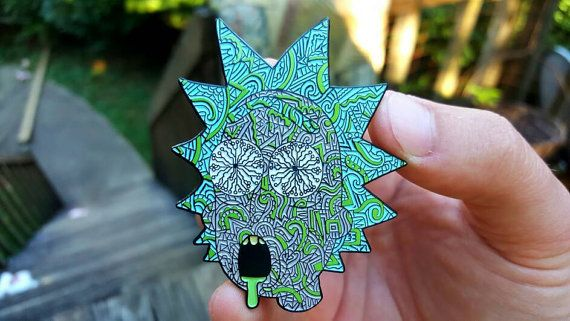 RickyWrecked rick and morty pin 2.5 by PinkElephantPins on Etsy