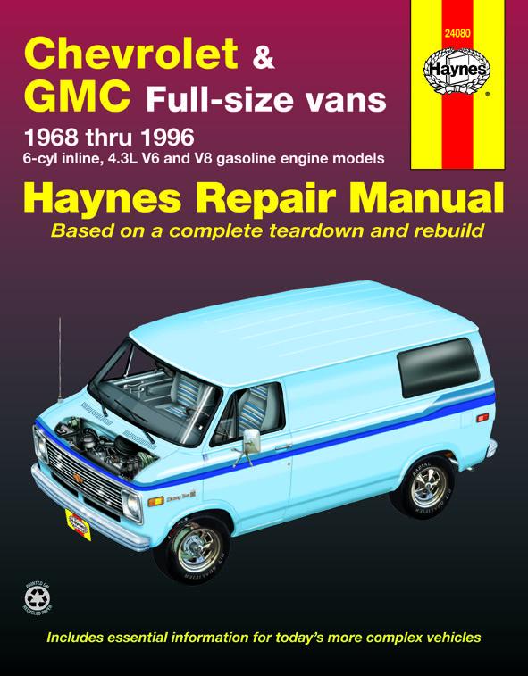 Chevrolet G20 Van 1968 1995 Repair Manuals Repair Manuals
