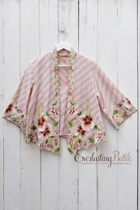 ME1404.1854 Kembang Sepatu Kebaya balero embroidery -L