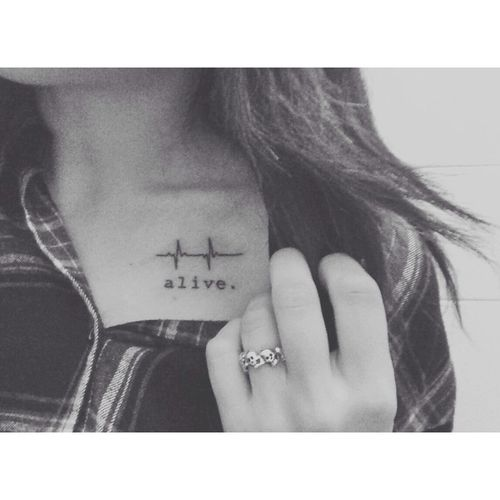 cute heartbeat tattoo #ink #EKG #YouQueen #girly #tattoos