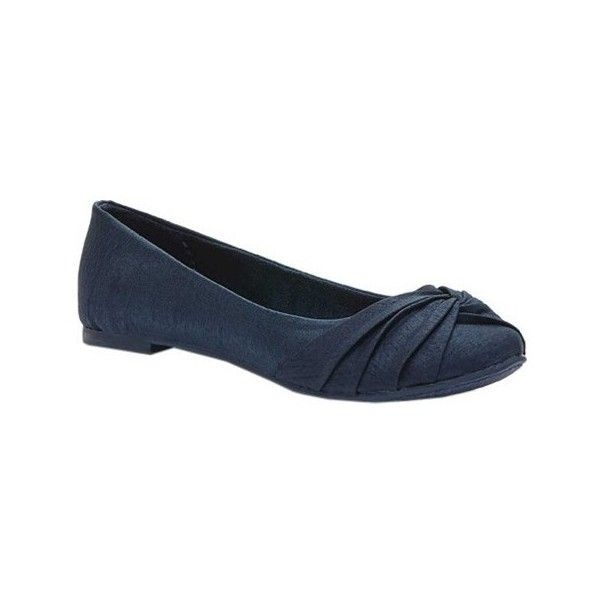 Women's Rocket Dog Myrna Ballet Flat ($40) ❤ liked on Polyvore featuring shoes, flats, casual, navy blue ballet flats, navy blue flats, ballet flats, slip on flats and ballet pumps