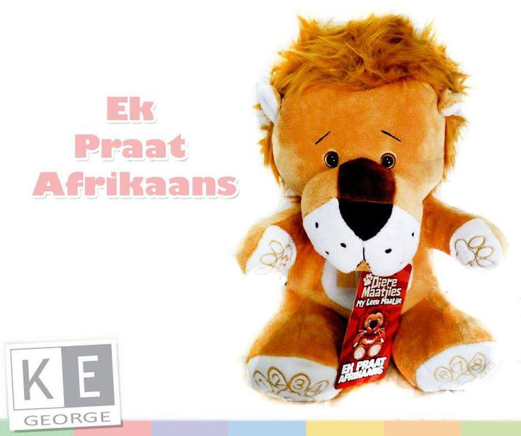 #LeeuMaatjie is a unique way of educating your child in Afrikaans whilst they enjoy fun games. It is designed to help teach young children how to count from 1 to 10 and the pronunciation of shapes and colours. Available from #KEGeorge for only R399.00 each. T's and C's Apply, while stocks last, E & OE.11745487_1449808018658904_3595057105418797220_n.jpg (940×788)