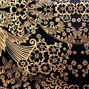 Lace Gold Black. #sarahjanesoilcloth #love #madeintheusa www.simplysjo.com