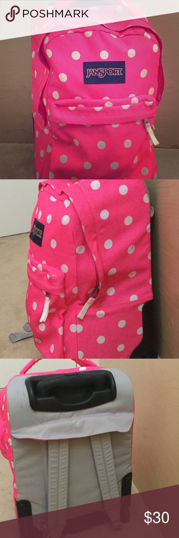 Pink Jansport backpack Never used pink and white polka dot back pack Jansport Other