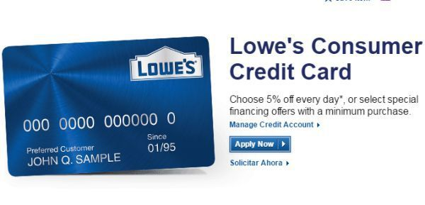 Activate Lowes Credit Card To Log Into Online Account Business