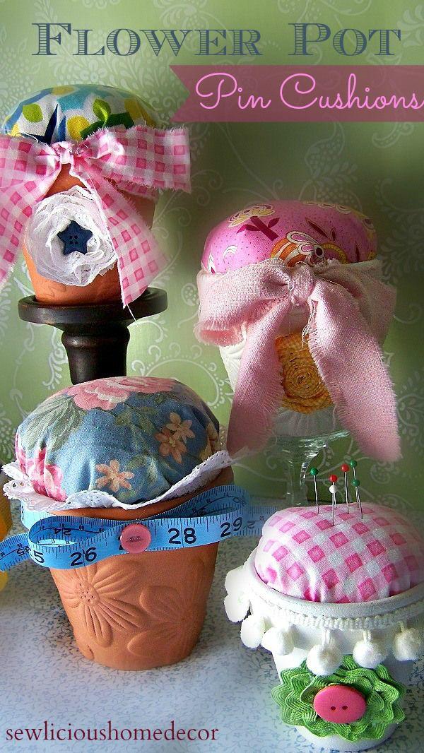 Sew Organized Chalkboard Flower Pot Organization |