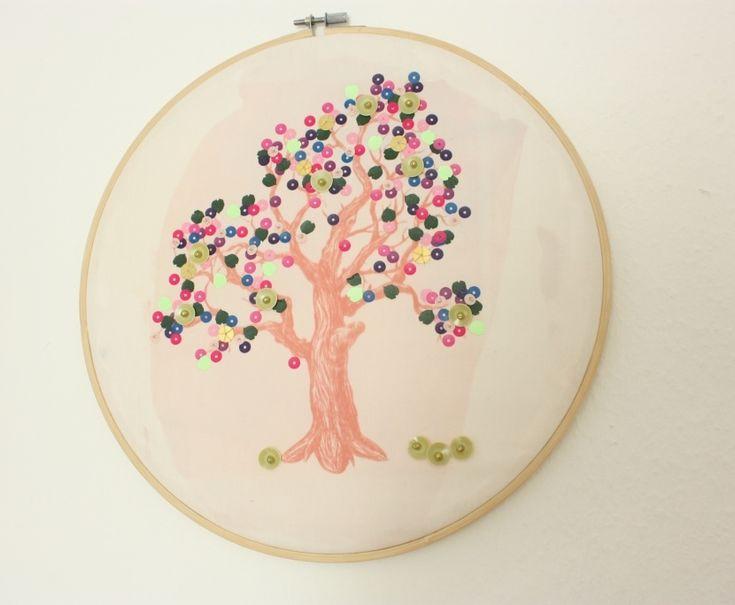 #Stickrahmen Mehrfruchtbaum
