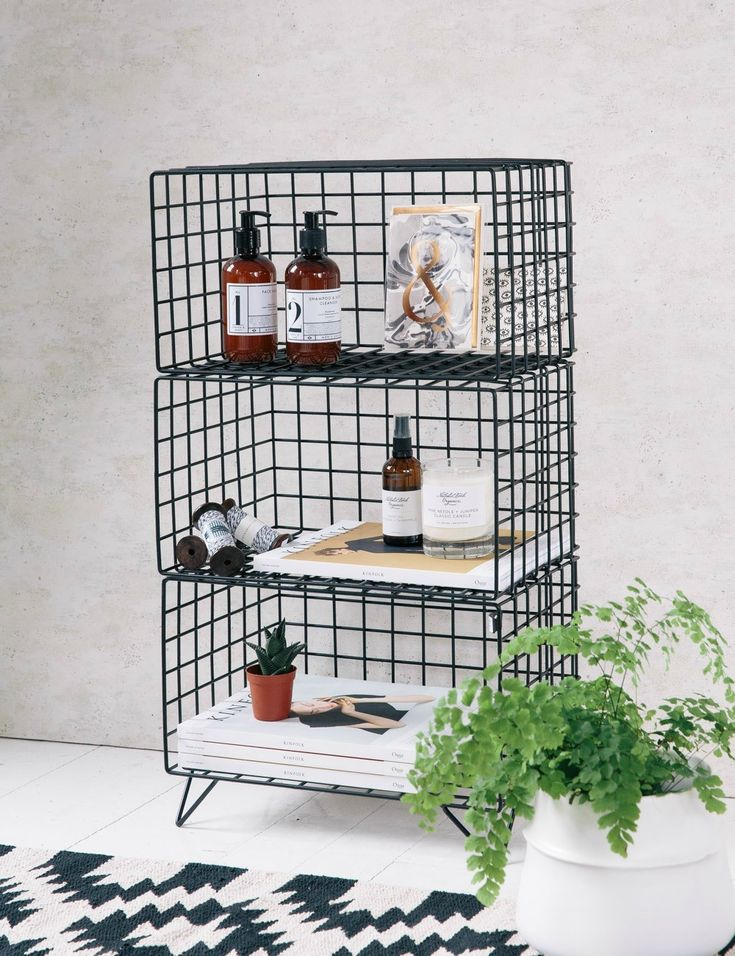 Three-Tier Wire Shelves at Rose & Grey
