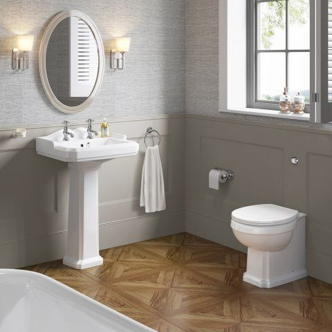 Traditional Back To Wall Toilet | White | Victoria Range - soak.com