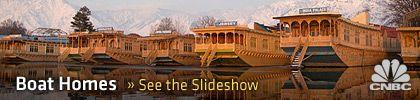 Srinagar Houseboat in Kashmir.