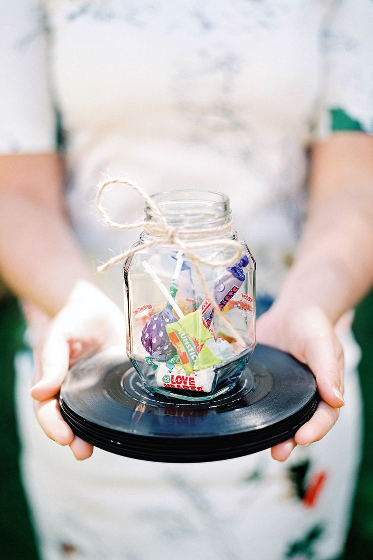 DIY jam jars with sweets