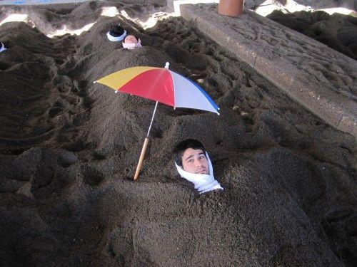 Baños de arena volcánica en Ibusuki.