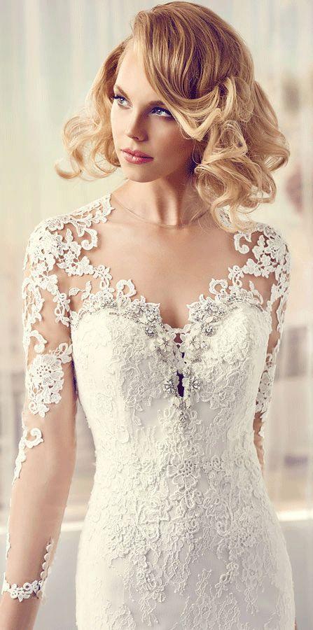 Best Hairstyle For V Neck Wedding Dress : 486 best wedding dresses images on pinterest
