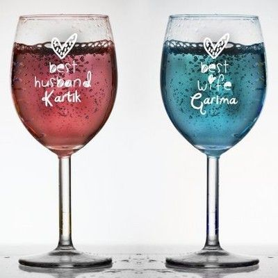 Wine Glasses - Buy Wine Glasses Online Gift at Best Prices in India | Wishpicker.com