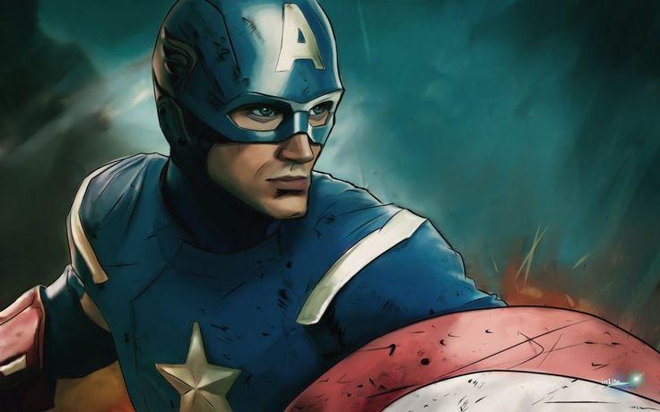 #CaptainAmerica digital drawing - inLite Illustrations & Design