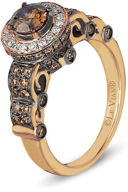 Le Vian Chocolatier Le Vian 14ct Strawberry Gold Chocolate Diamond Ring