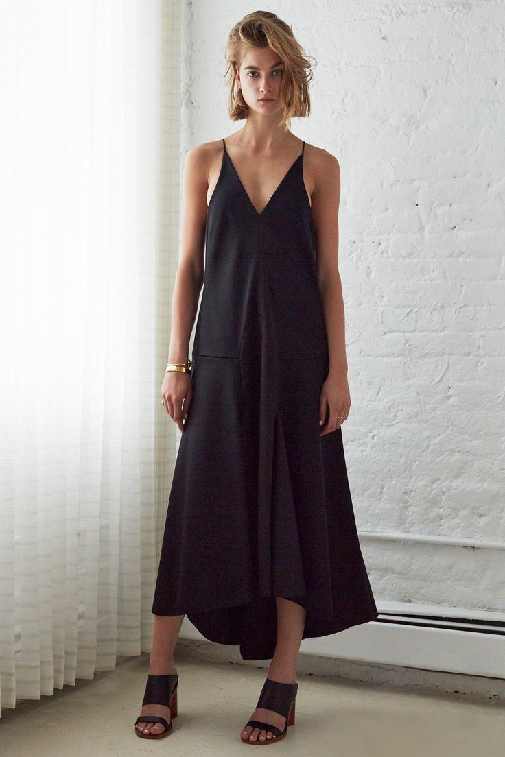 whirlpool v neck dress with mid length flute skirt