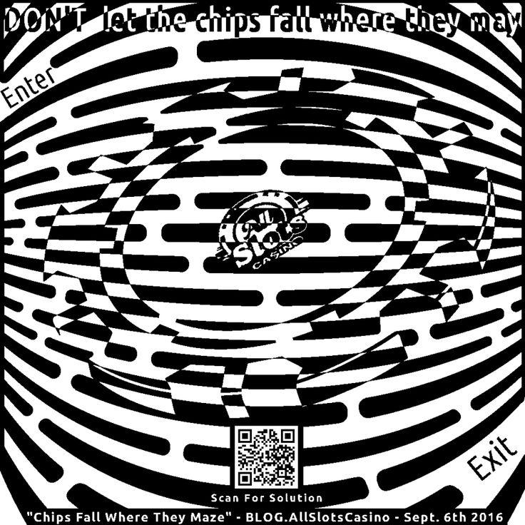 Maze of a lucky casino chip
