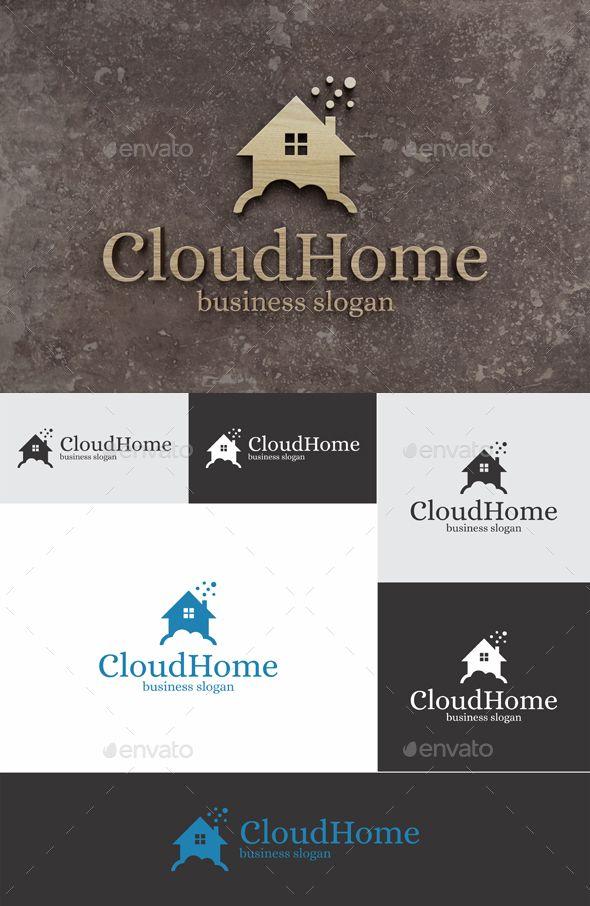 Cloud Home Logo Template Vector EPS, AI Illustrator, CorelDRAW CDR. Download here: https://graphicriver.net/item/cloud-home/17448634?ref=ksioks