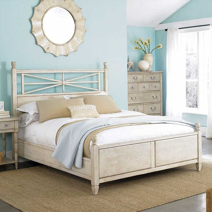 Delightful American Drew Americana Home Arbor Gate King Low Poster Bed In White  AD 114  · Seaside BedroomBeach BedroomsBeach Bedroom ColorsBeach Bedroom  DecorSmall ...
