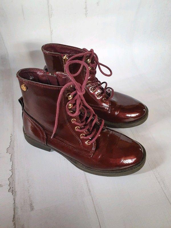 Botki Lakierowane Buty Dla Dziewczynki 33 Boots Combat Boots Dr Martens Boots