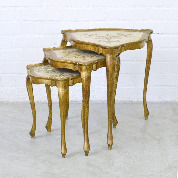 Florentine Triangle Nesting Tables