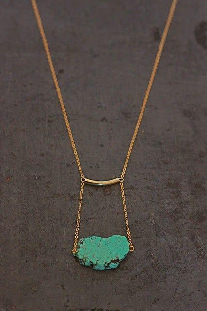 turquoise drop necklace // via Artful Venture