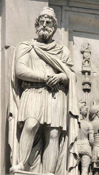 Dacian men statue dacians people