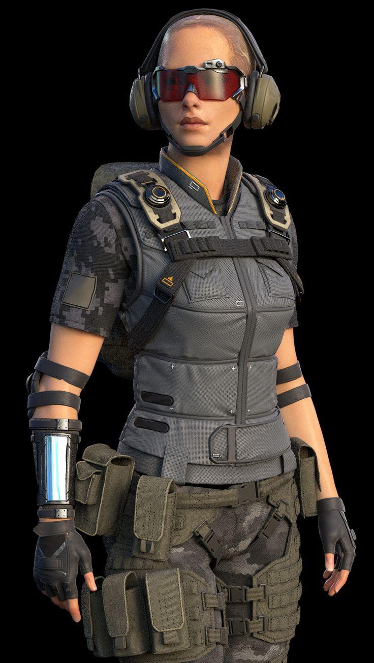 Making of 3D Female Soldier Character — Компьютерная графика и анимация — Render.ru