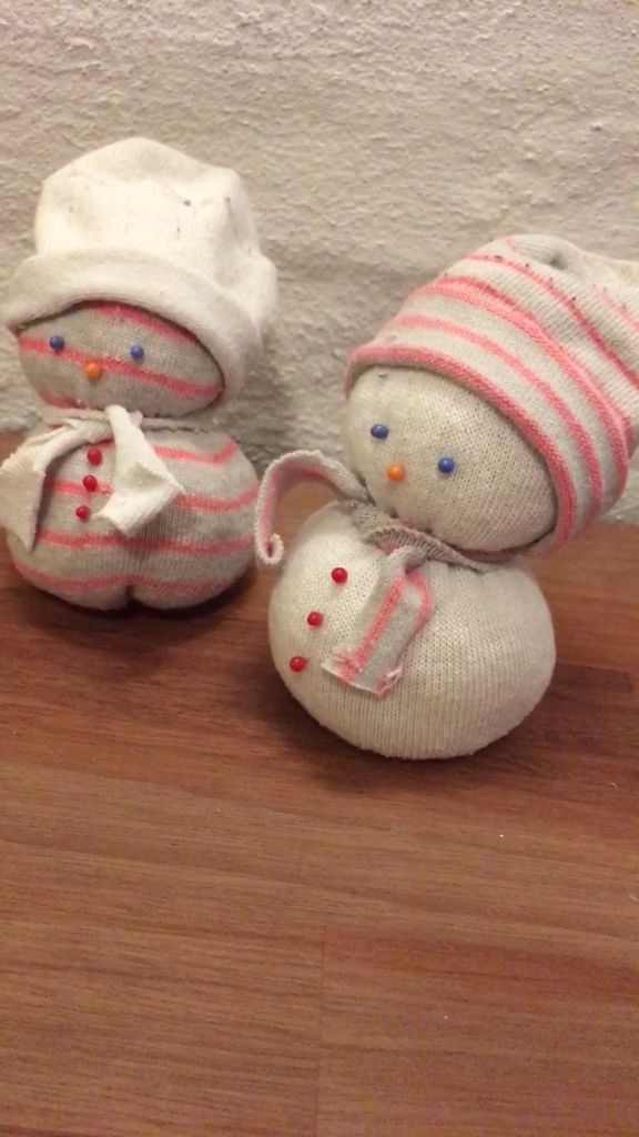 Make an Upcycled Sock Snowman