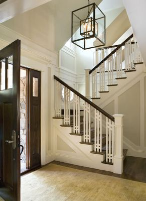 Best A Grand Entrance Craftsman Staircase Craftsman Lighting 400 x 300