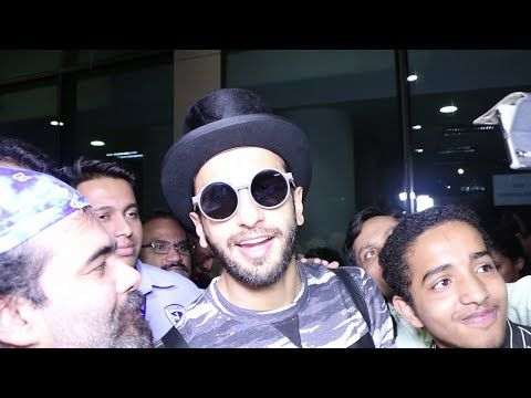 BAJIRAO Ranveer Singh back to India mobbed at Mumbai airport.