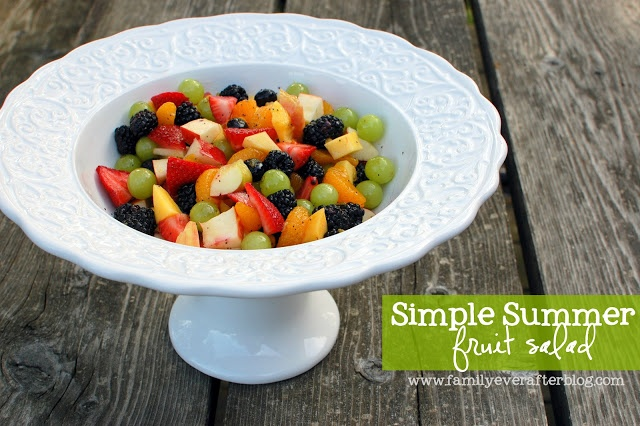 Family Ever After....: Simple Summer Fruit Salad... with zing!