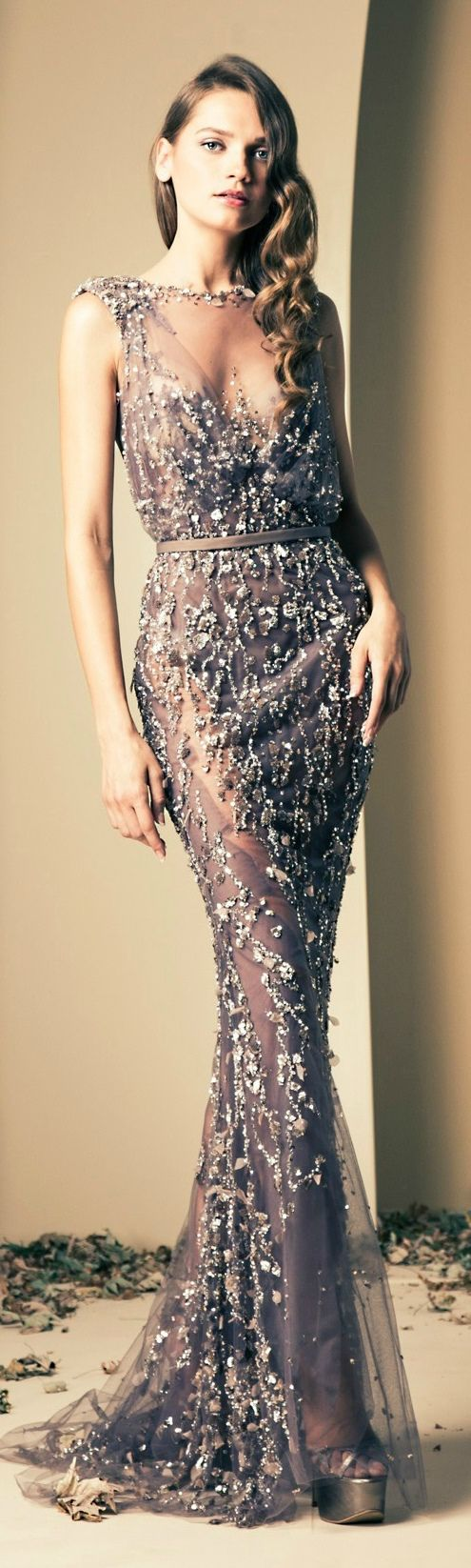 Ziad Nakad 2014 Fall Couture Collection - beautiful dress, not keen on the hooker heels though!!!