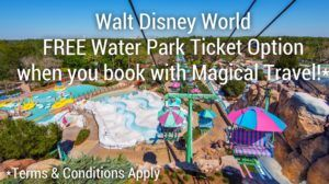 Book a new Walt Disney World Resort package with Magical Travel and we will upgrade your Park Hopper Ticket to include the Disney Water Parks for FREE! Offer ends May 21, 2017.