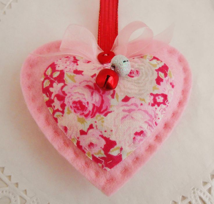 Lavender Scented Christmas Hanging Heart by picocrafts on Etsy